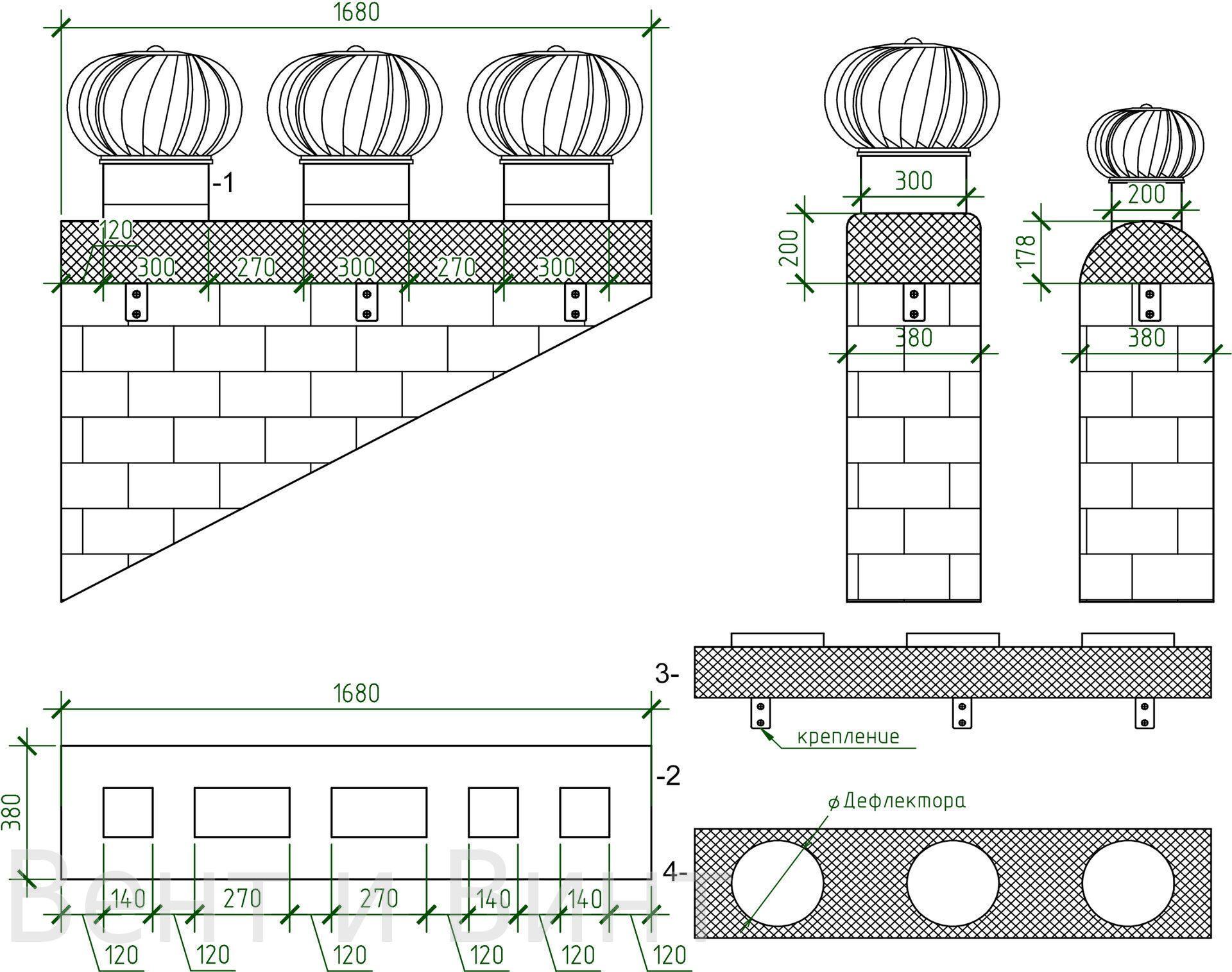 Дефлектор на дымоход своими руками: чертежи и инструкции 67